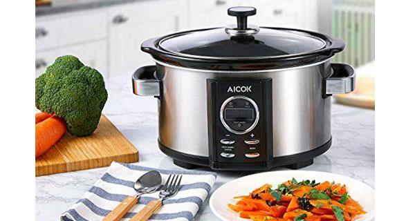 Comprar mejores ollas de cocción lenta Aicok