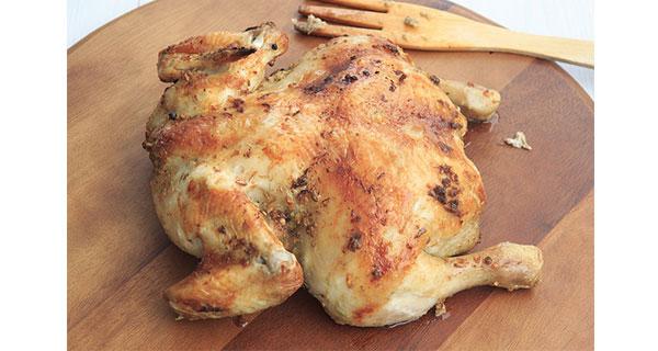 Pollo asado en olla de coccion lenta